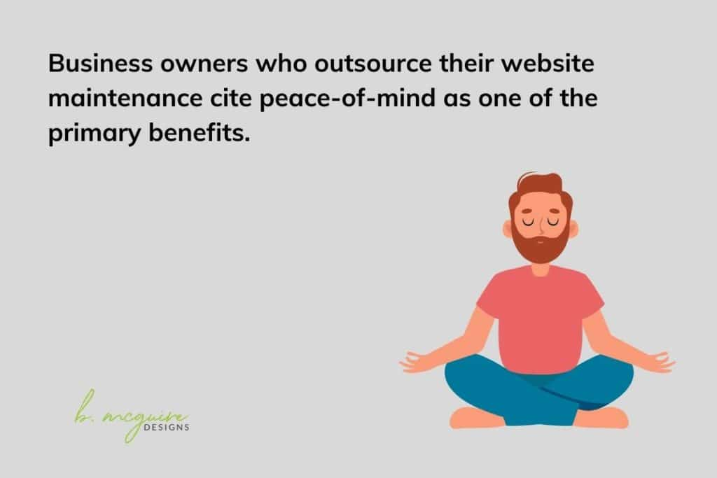 outsourcing website maintenance gives peace of mind
