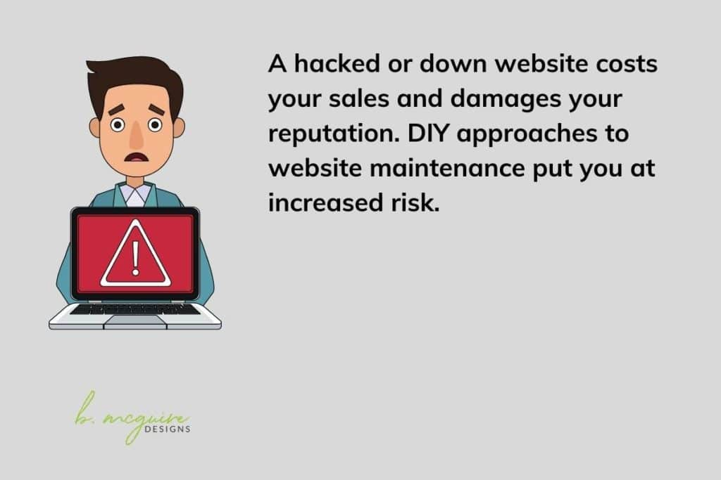 outsourcing website maintenance helps keep you safe