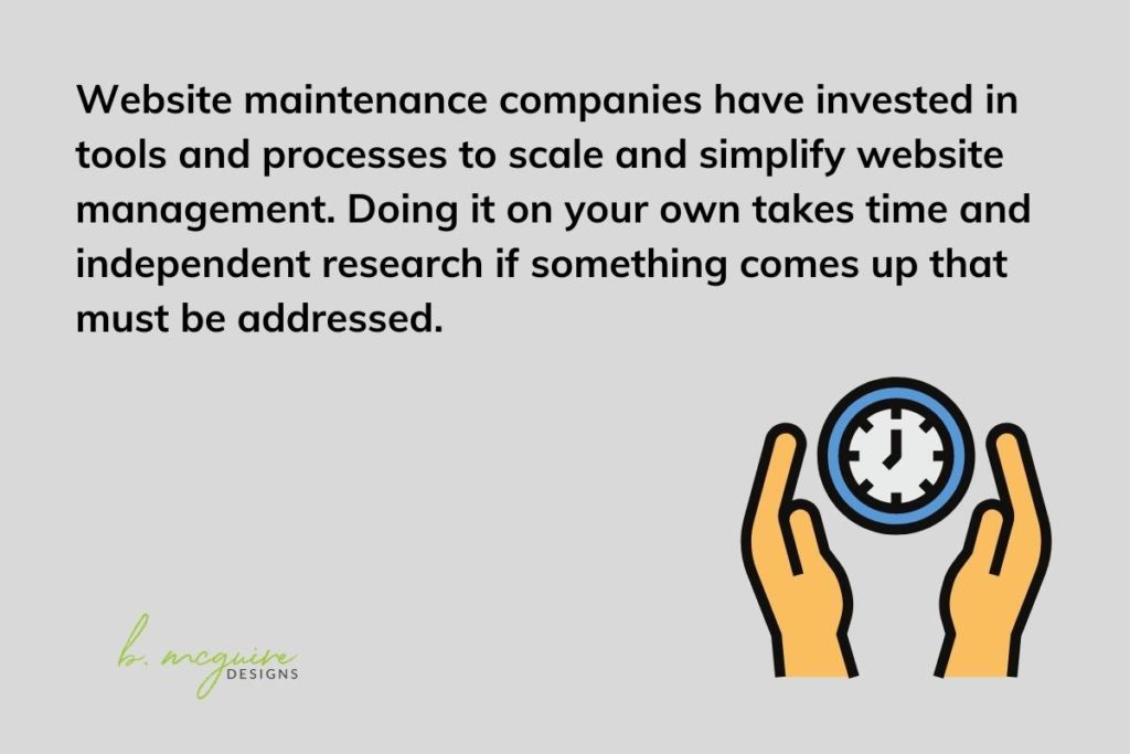 outsourcing website maintenance saves time
